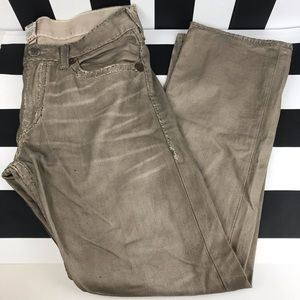 True Religion Ricky Super T Taupe Straight Jeans